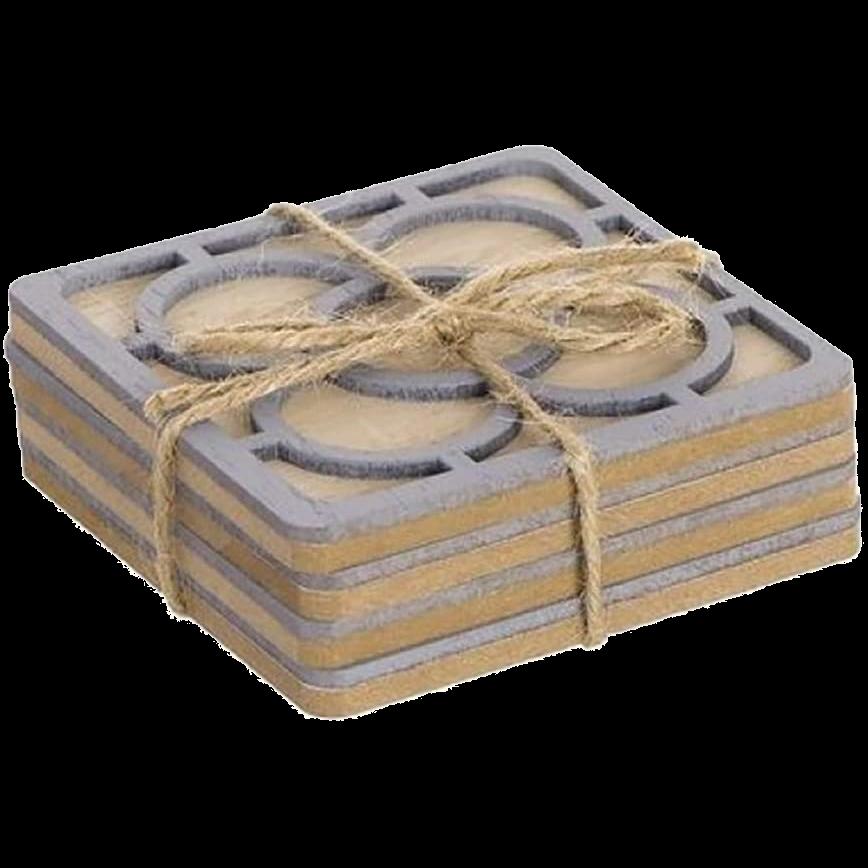 Quatre posavasos de fusta del Panot de BCN