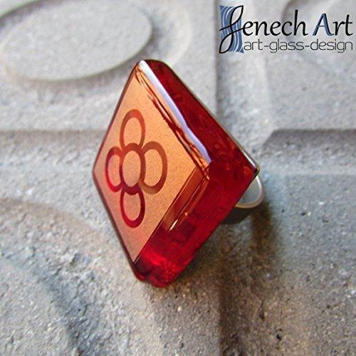 Anell de la Flor de Barcelona vermell cirera
