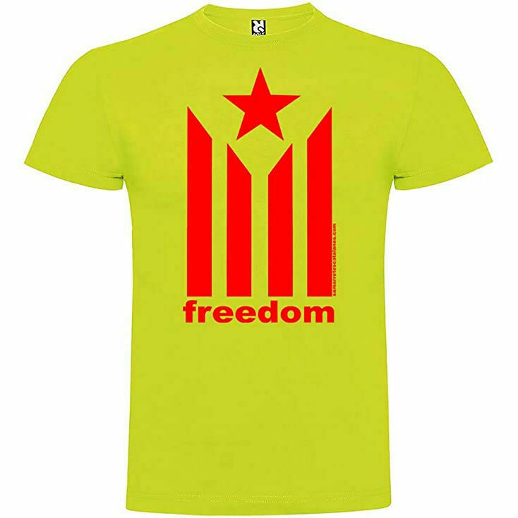 """Samarreta """"freedom"""" amb l'estelada"""
