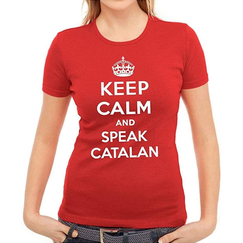"Samarreta ""Keep Calm and Speak Catalan"" per a dona"