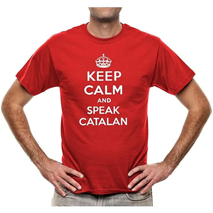 "Samarreta ""Keep Calm and Speak Catalan"" per home"