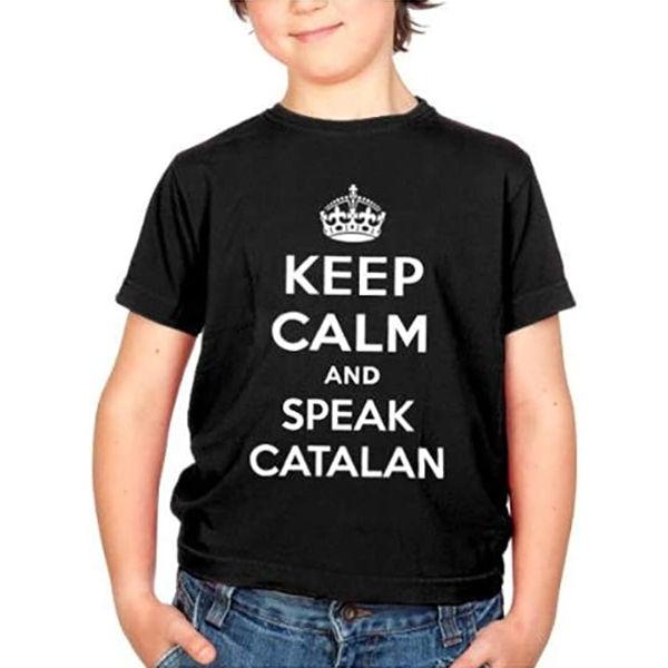 "Samarreta ""Keep Calm and Speak Catalan"" per a nens"