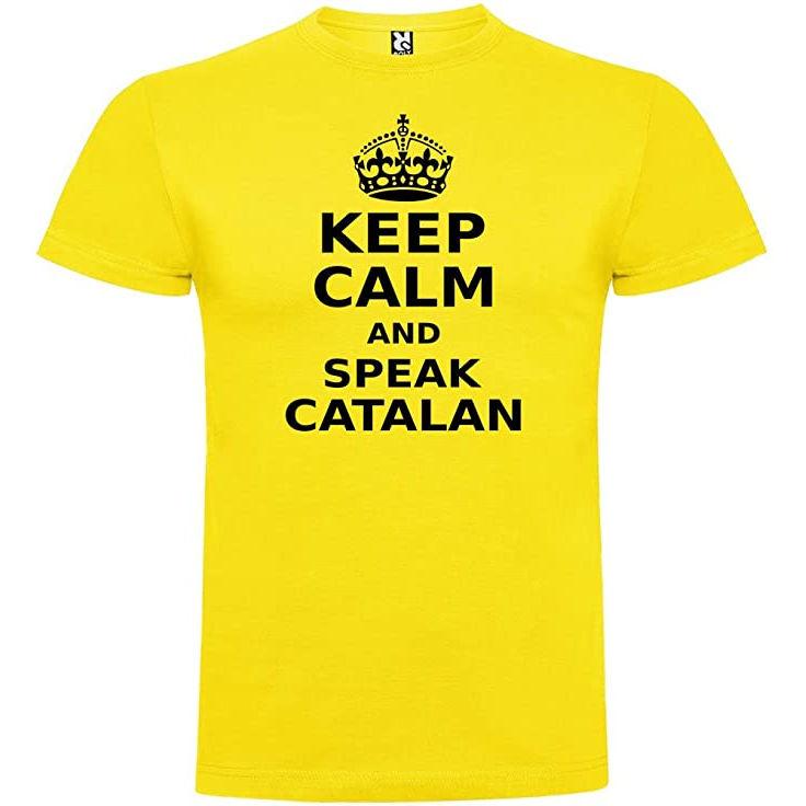 "Samarreta ""Keep Calm and Speak Catalan"" per a home"
