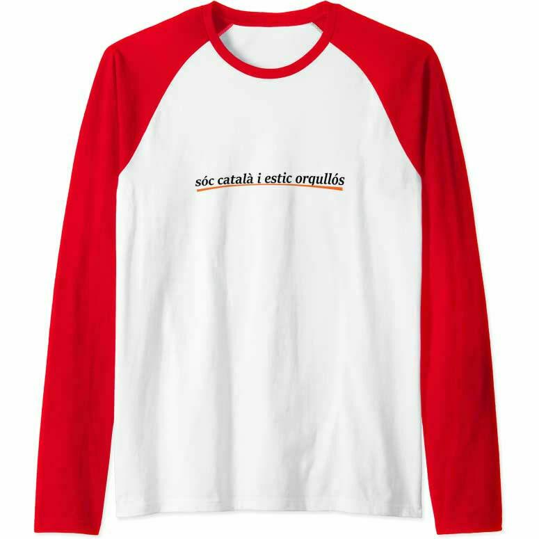 """Samarreta """"Sóc català i estic orgullós"""" màniga llarga raglan"""