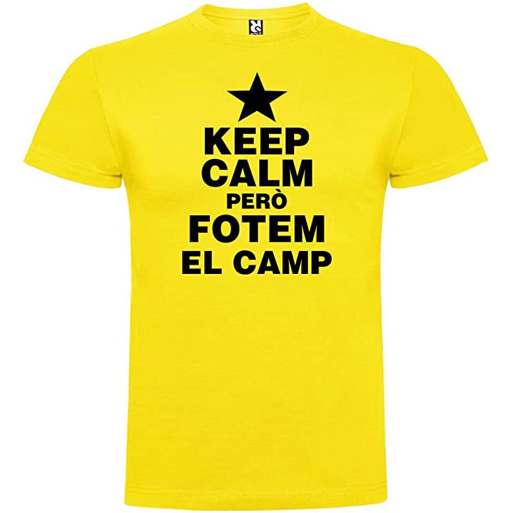 """Samarreta """"Keep calm però fotem el camp"""""""