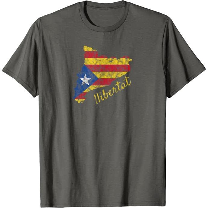 "Samarreta ""Llibertat"" silueta de Catalunya"
