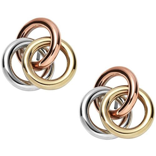 Arracades amb 3 anelles entrellaçades