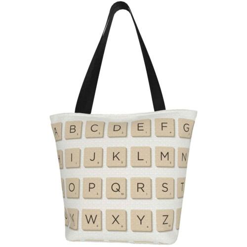 Bossa amb fitxes de Scrabble