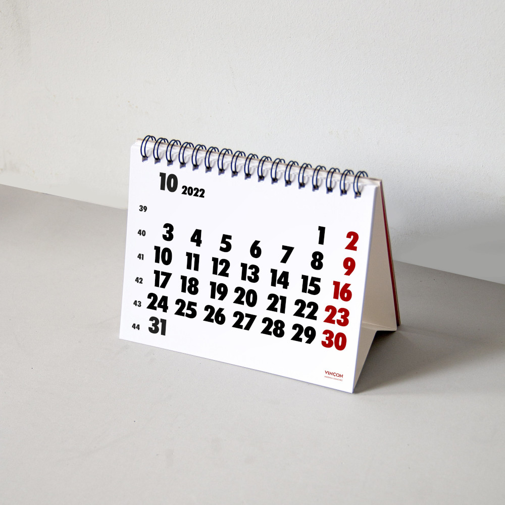 Calendari Vinçon de sobretaula 2022