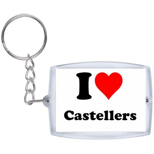"Clauer ""I love Castellers"" blanc"