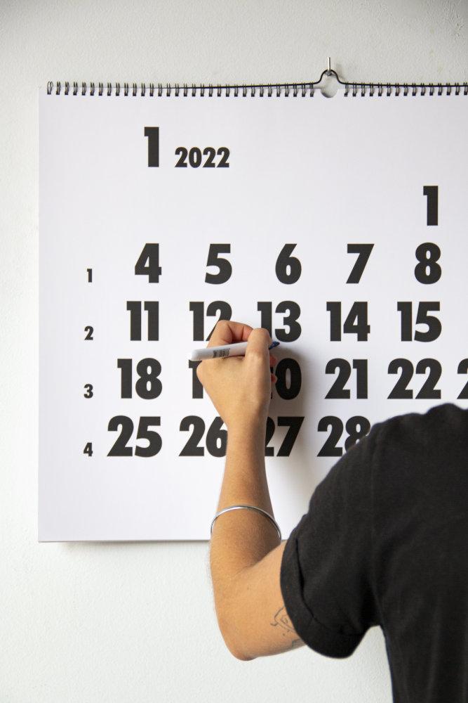Escrivint al calendari Vinçon 2022