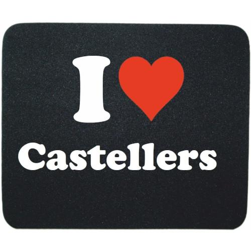 """Estoreta rectangular per a ratolí """"I love Castellers"""""""