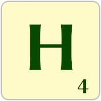 Ficha Scrabble H