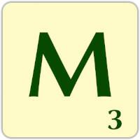 Ficha Scrabble M
