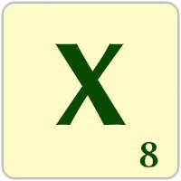 Ficha Scrabble X