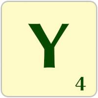 Ficha Scrabble Y