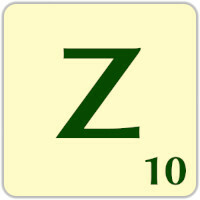Ficha Scrabble Z