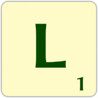 Fitxa Scrabble L