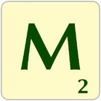 Fitxa Scrabble M