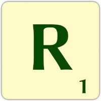 Fitxa Scrabble R