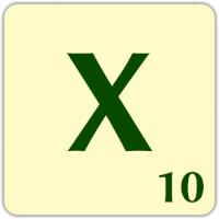Fitxa Scrabble X