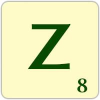 Fitxa Scrabble Z