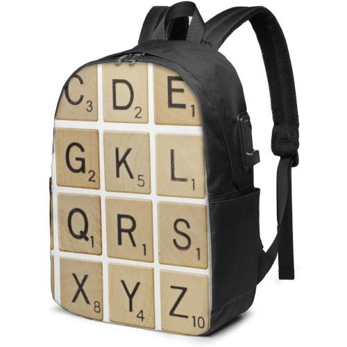 Motxilla amb fitxes de Scrabble grans