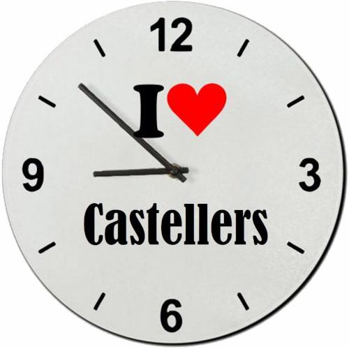 "Rellotge de paret ""I love Castellers"""
