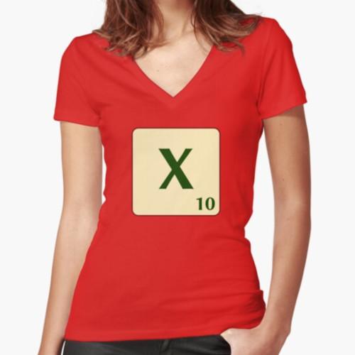 Samarreta entallada amb coll en V de Scrabble