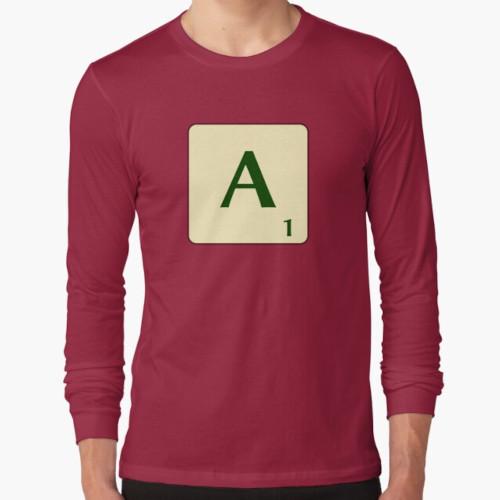 Samarreta màniga llarga Scrabble