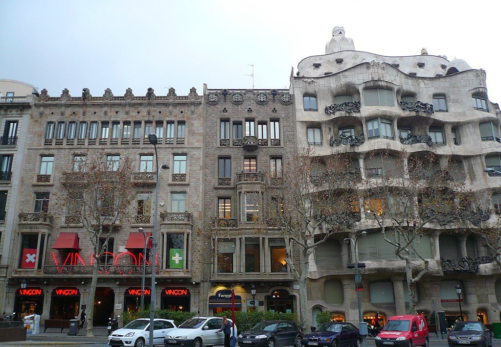 Tres cases del Passeig de Gràcia
